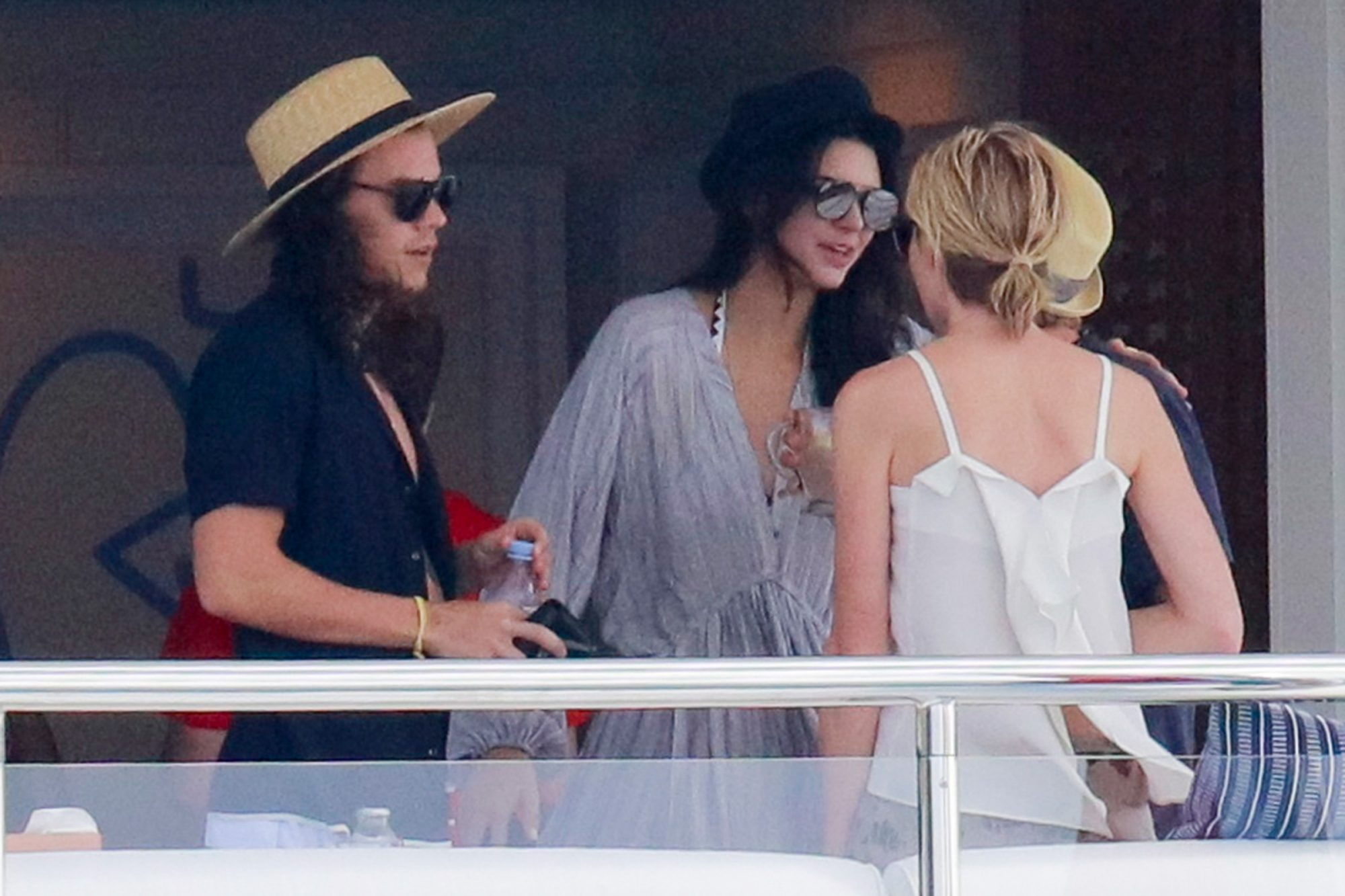 Harry Style and Kendall Jenner enjoy lunch with Ellen DeGenres aboard a Private Yacht in St Barth.