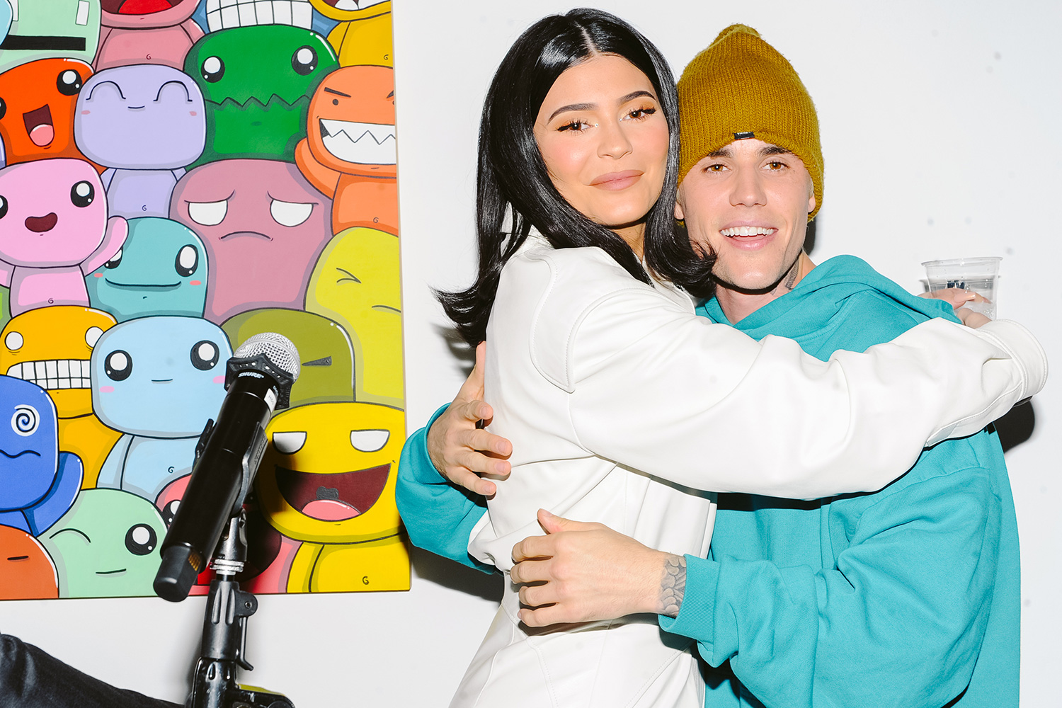 Kylie Jenner and Justin Bieber attend T-Mobile Presents: The Biebers x LIFT LA x Inner-City Arts with Paddle8, UTA Artist Space, Beverly Hills, December 13, 2019