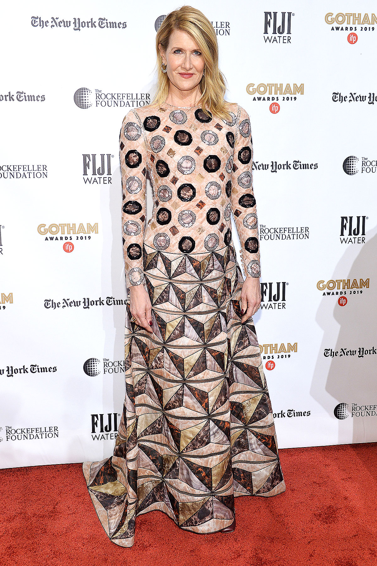 NEW YORK, NEW YORK - DECEMBER 02: Laura Dern attends the 2019 IFP Gotham Awards with FIJI Water at Cipriani Wall Street on December 02, 2019 in New York City.