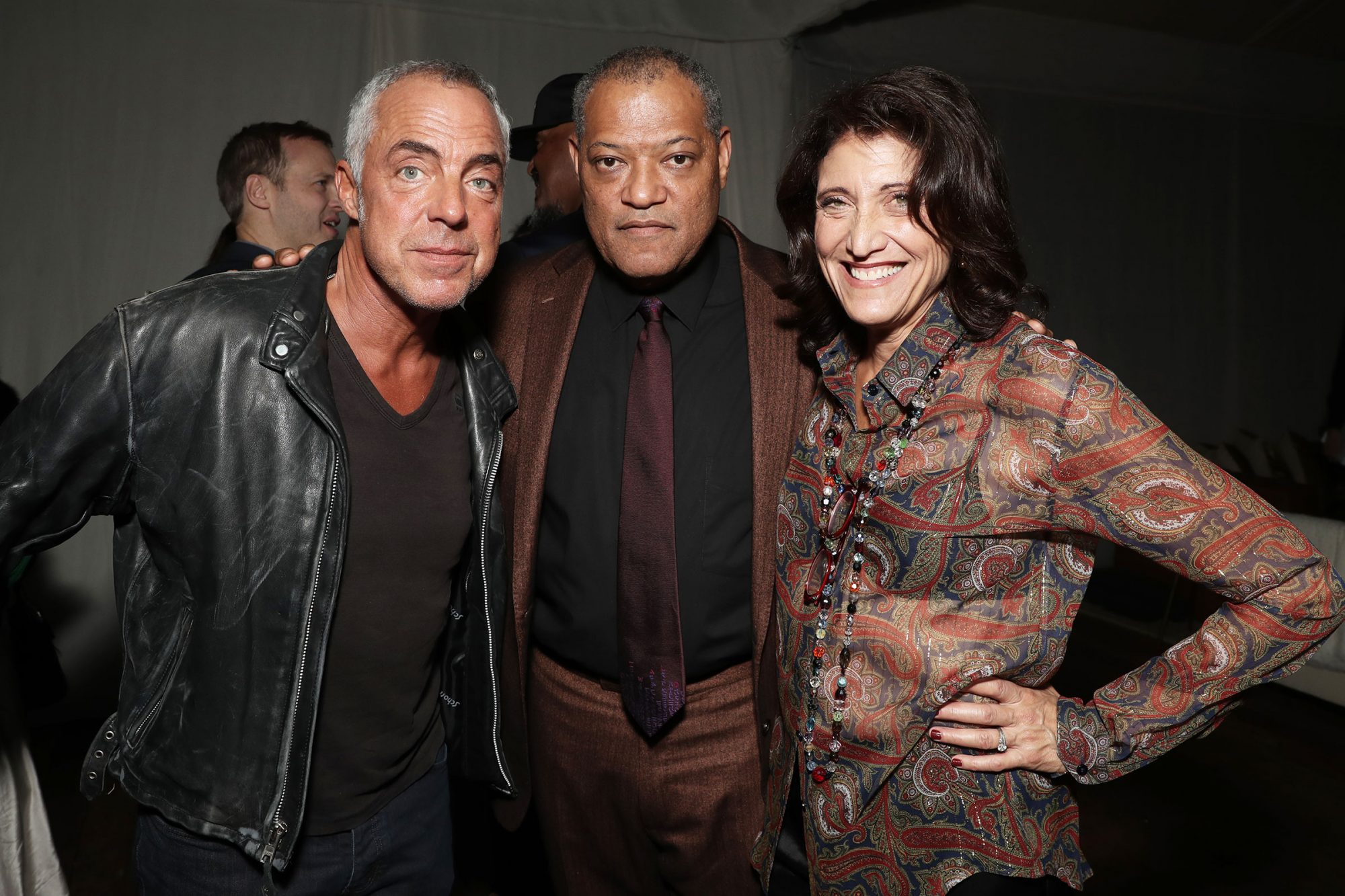 Titus Welliver, Laurence Fishburne, Amy Aquino Amazon Studios Holiday Party, Los Angeles, USA - 07 Dec 2019