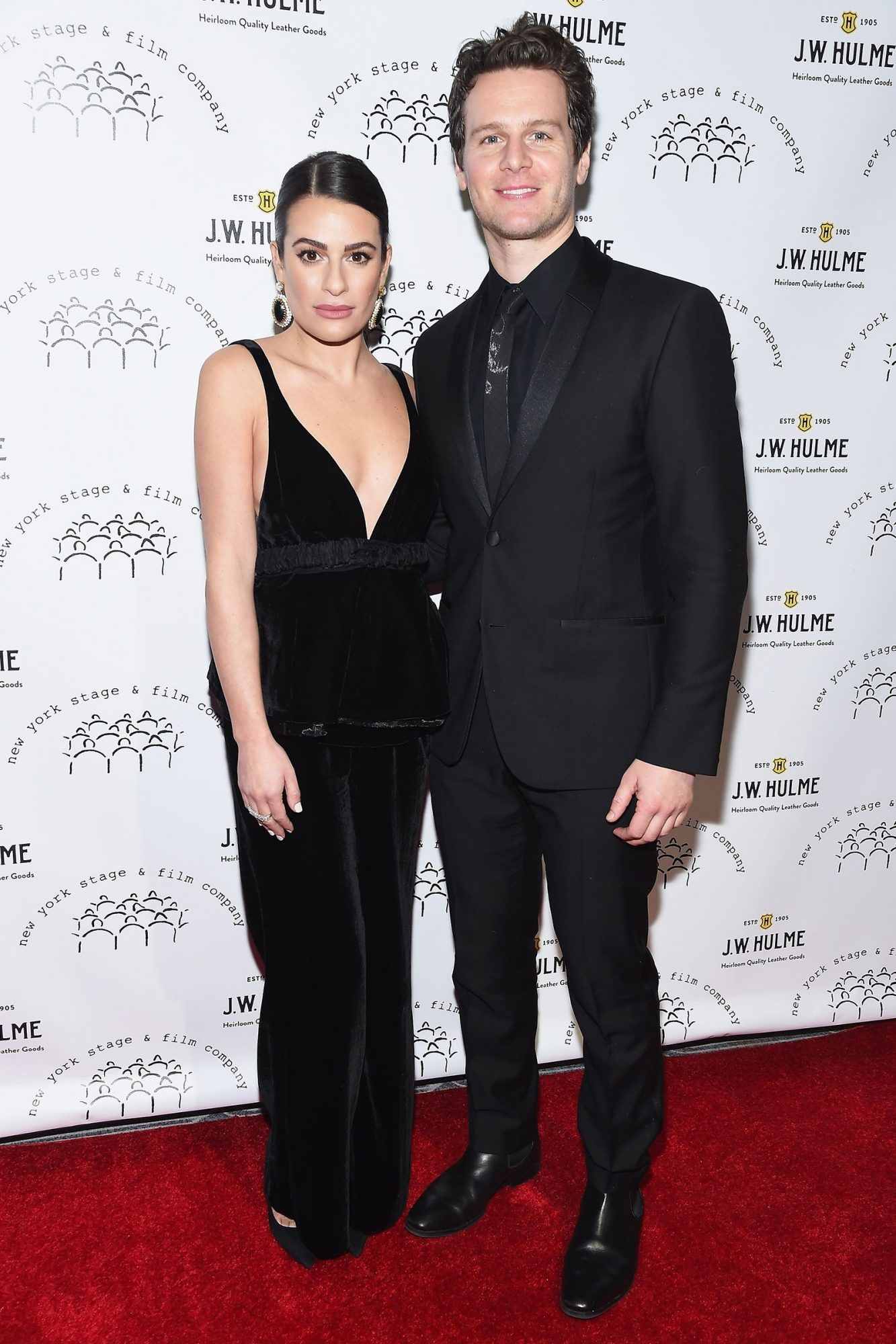 Lea Michele and Zandy Reich attend the New York Stage & Film 2019 Winter Gala at The Ziegfeld Ballroom on December 08, 2019 in New York City