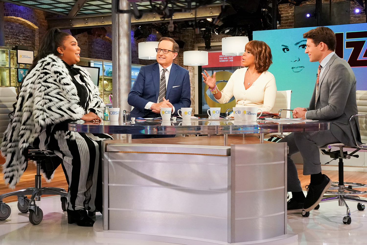 CBS This Morning Co-Anchors Gayle King, Anthony Mason and Tony Dokoupil interview 8 time Grammy Nominee Lizzo LIVE on December 12th, 2019