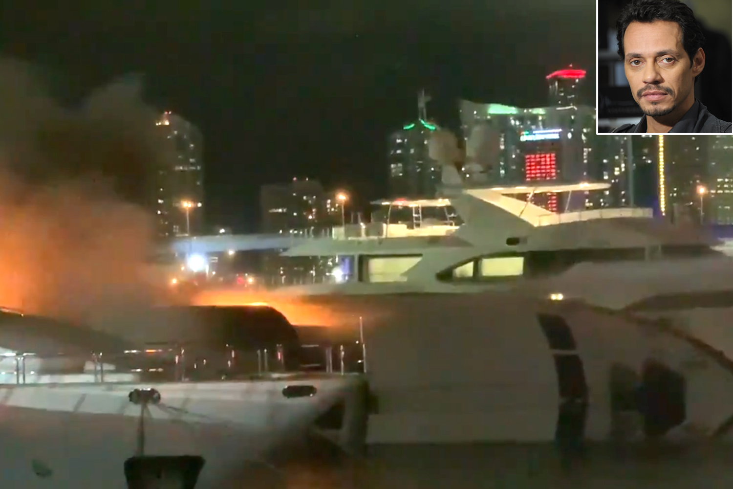 Marc Anthony boat fire
