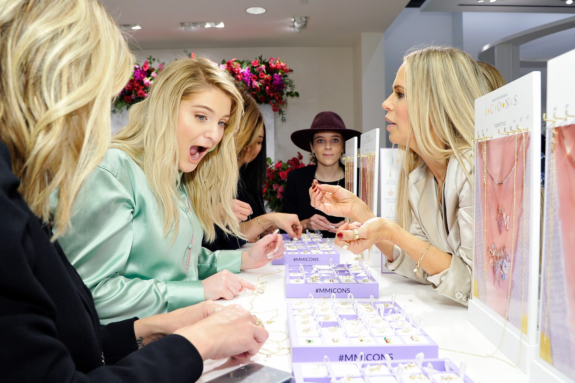 Meghan Trainor and Melinda Spigel attend the Launch of New ICONS Collection hosted by Nordstrom Century City and Melinda Maria Jewelry at Nordstrom Century City on December 05, 2019 in Los Angeles, California