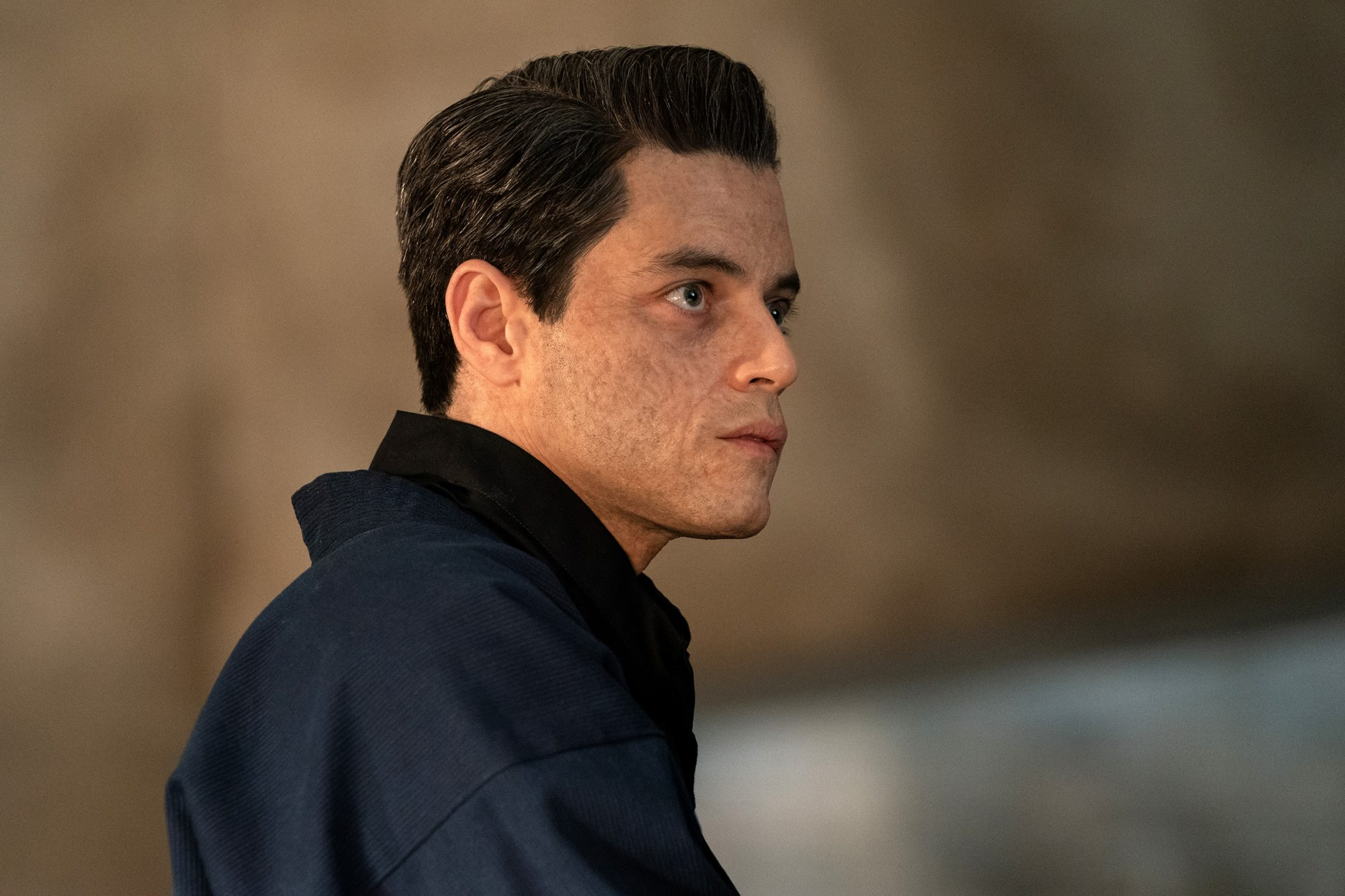 Safin (Rami Malek) in NO TIME TO DIE, a DANJAQ and Metro Goldwyn Mayer Pictures film