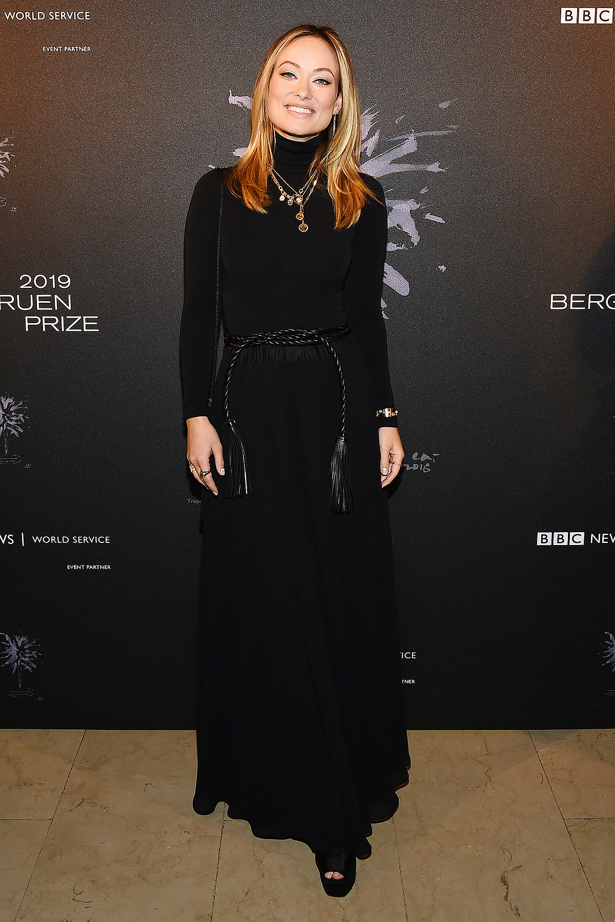 NEW YORK, NEW YORK - DECEMBER 16: Olivia Wilde attends the Fourth Annual Berggruen Prize Gala celebrating 2019 Laureate Supreme Court Justice Ruth Bader Ginsburg in New York City on December 16, 2019 in New York City.