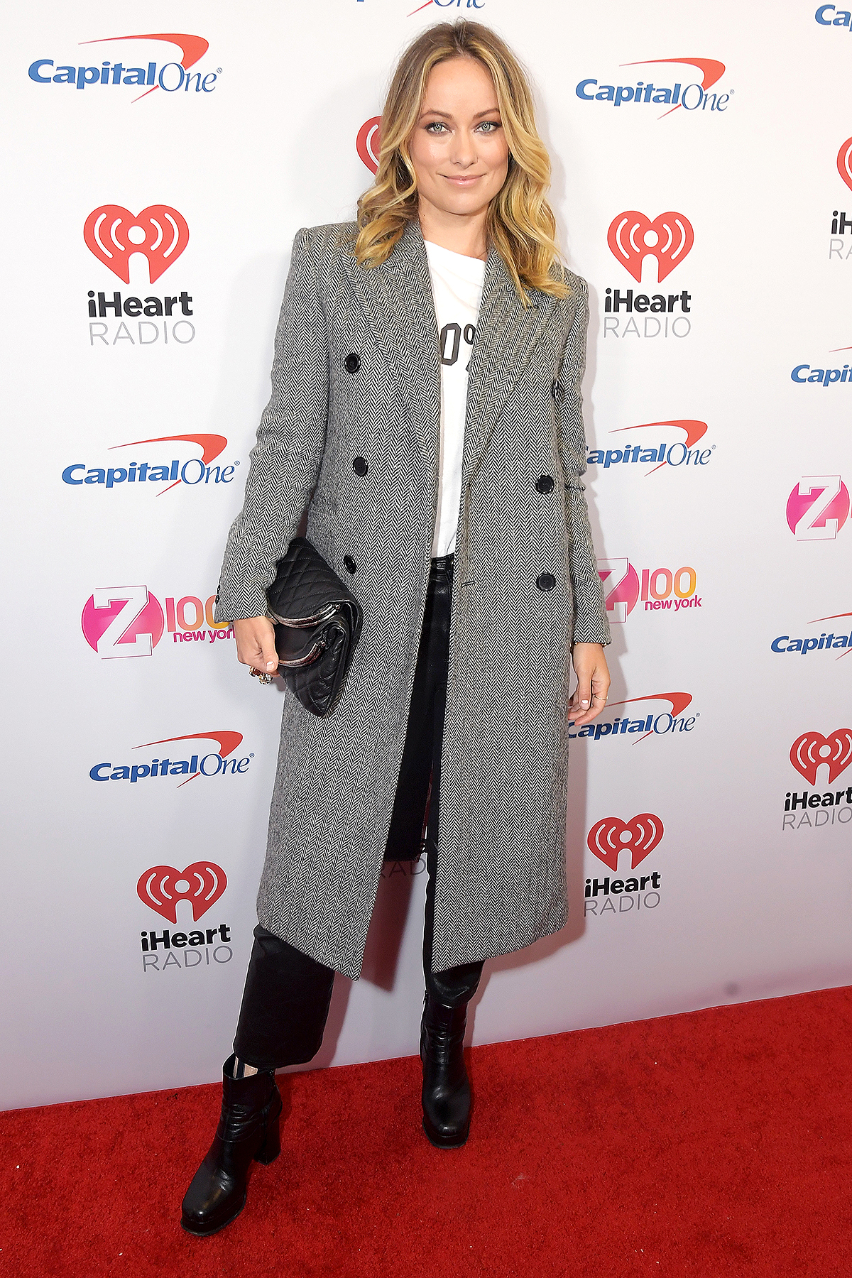 Olivia Wilde arrives at iHeartRadio's Z100 Jingle Ball 2019 at Madison Square Garden on December 13, 2019 in New York City.