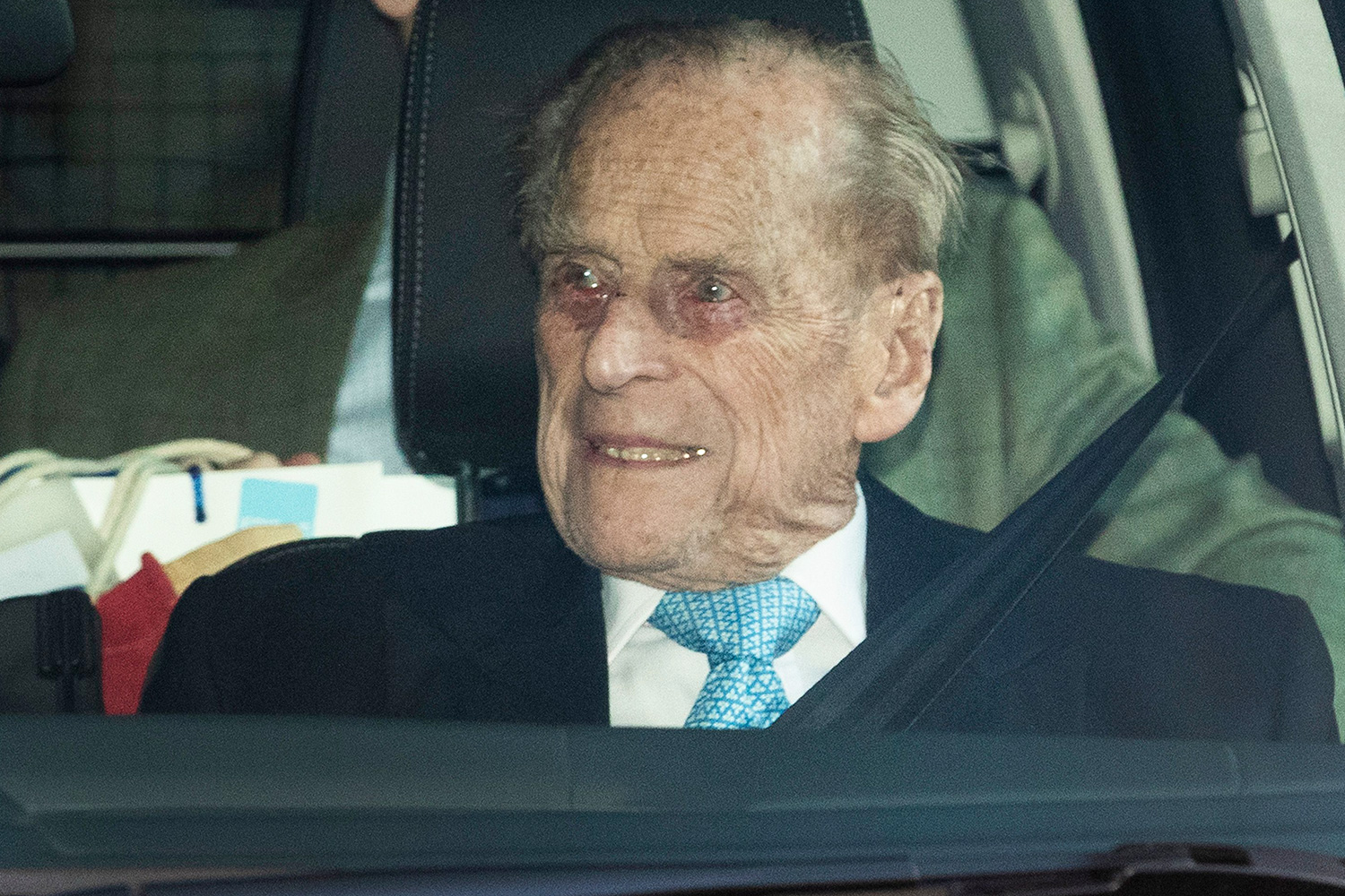 Prince Philip seen leaving King Edward VII hospital in London following a short stay. Prince Philip leaving King Edward VII hospital, London, UK - 24 Dec 2019
