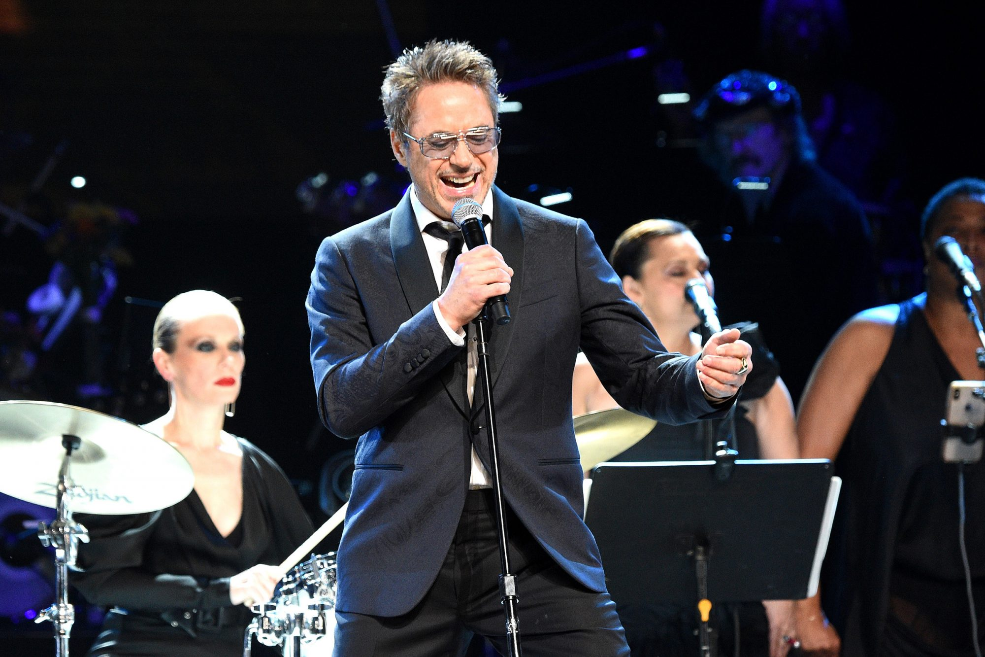 Robert Downey Jr. performs onstage during The Rainforest Fund 30th Anniversary Benefit Concert Presents 'We'll Be Together Again' at Beacon Theatre on December 09, 2019 in New York City