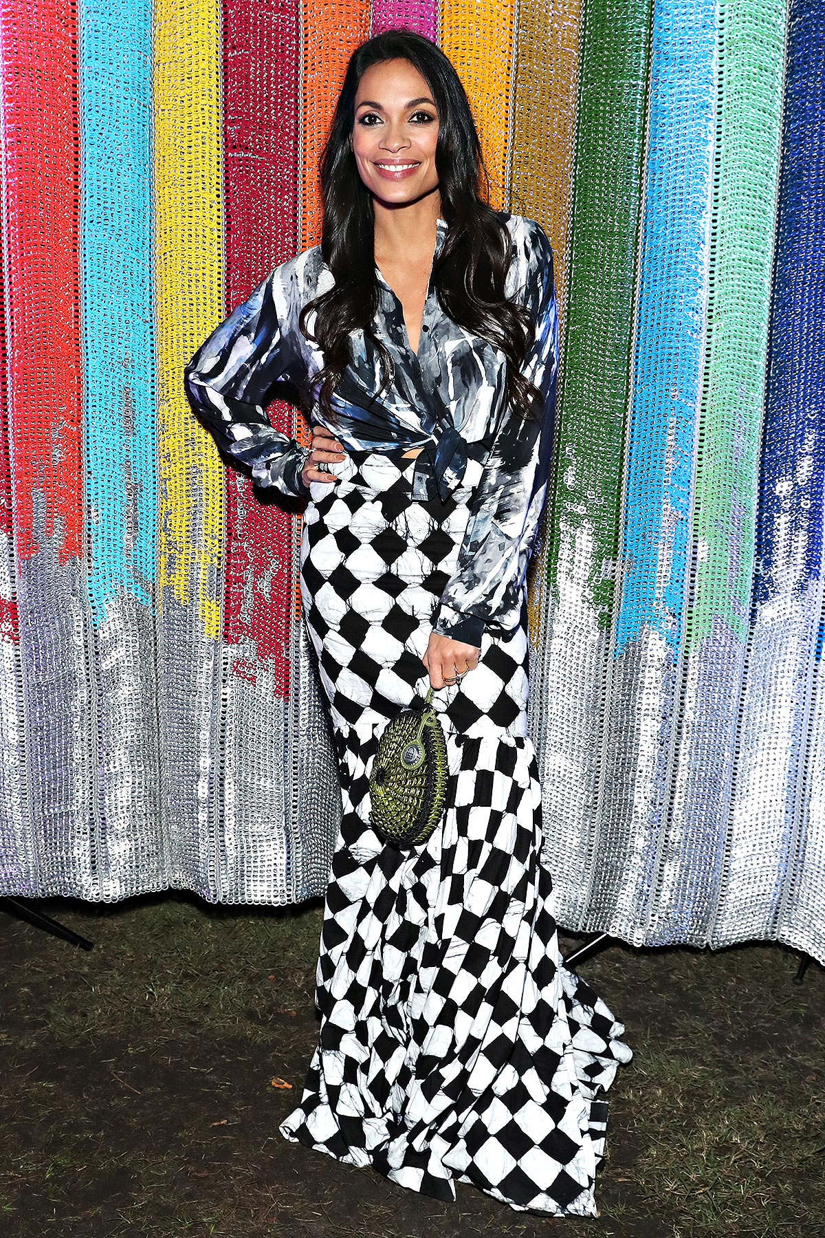 MIAMI BEACH, FL - DECEMBER 05: Actress Rosario Dawson attends the #TogetherBand Party during Art Basel Miami 2019 at Miami Beach Botanical Garden on December 5, 2019