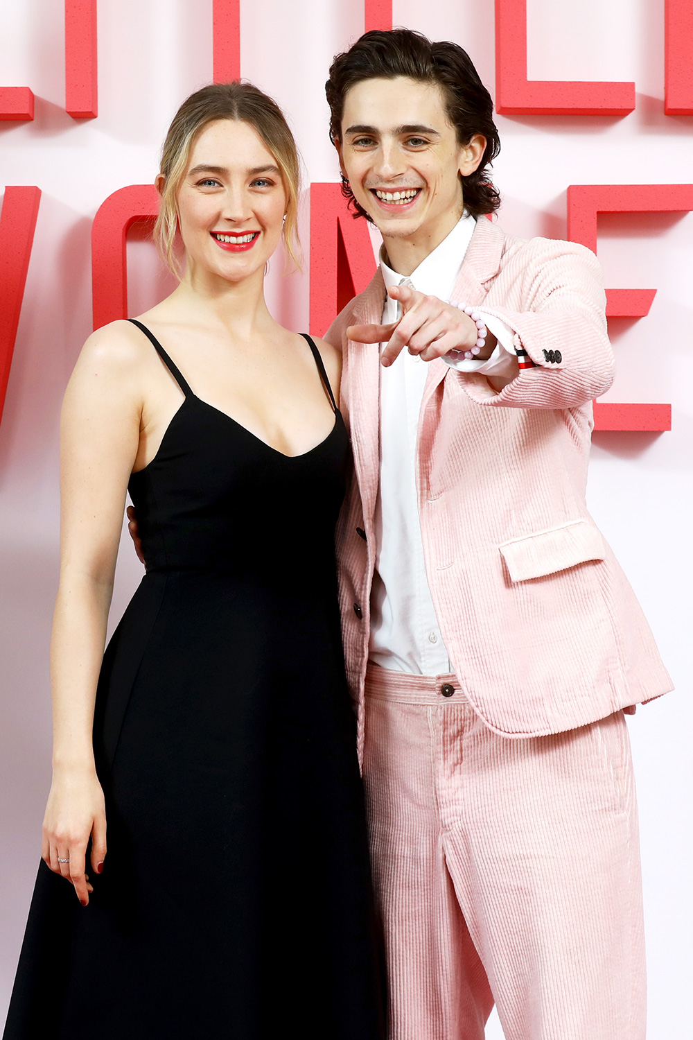 Saoirse Ronan and Timothee Chalamet attend the Little Women London evening photocall at the Soho Hotel on December 16, 2019 in London, England. Little Women releases in UK cinemas on 26th December