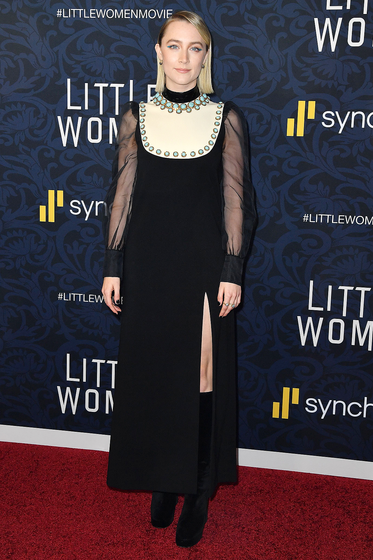 """Saoirse Ronan arrives for """"Little Women"""" world premiere at the Museum of Modern Art in New York on December 7, 2019."""