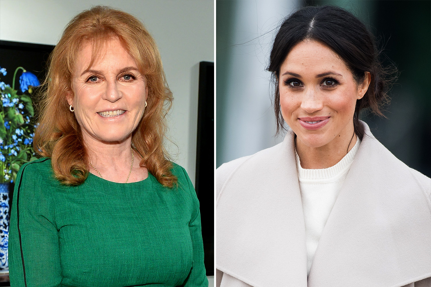 Sarah Ferguson and Meghan Markle