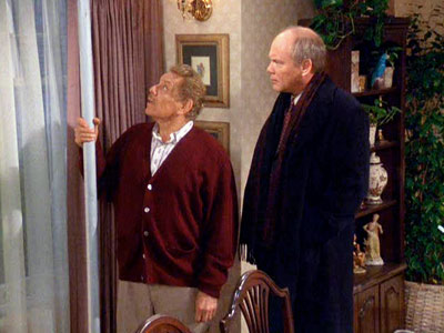 Jerry Stiller, Seinfeld | 1. SEINFELD ''The Strike'' (1993) It's called ''The Strike'' because Kramer (Michael Richards) finally ends his 12-year walkout from a job at H&H Bagels, but…