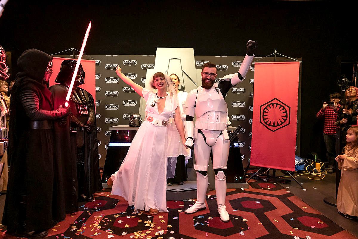 Star Wars Super Fans Get Married at The Rise of Skywalker Screening