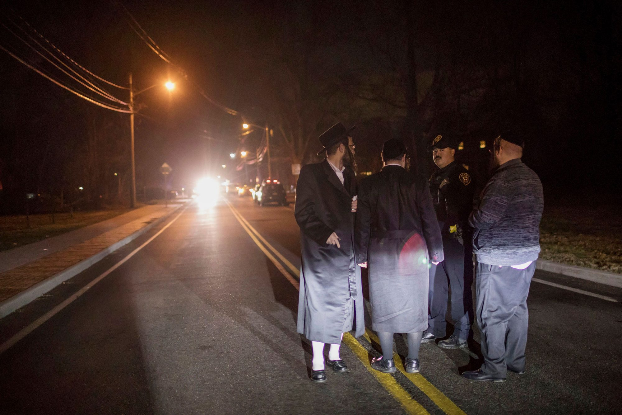 The home of rabbi, Chaim Rottenbergin Monsey, is seen in New York on December 29, 2019 after a machete attack