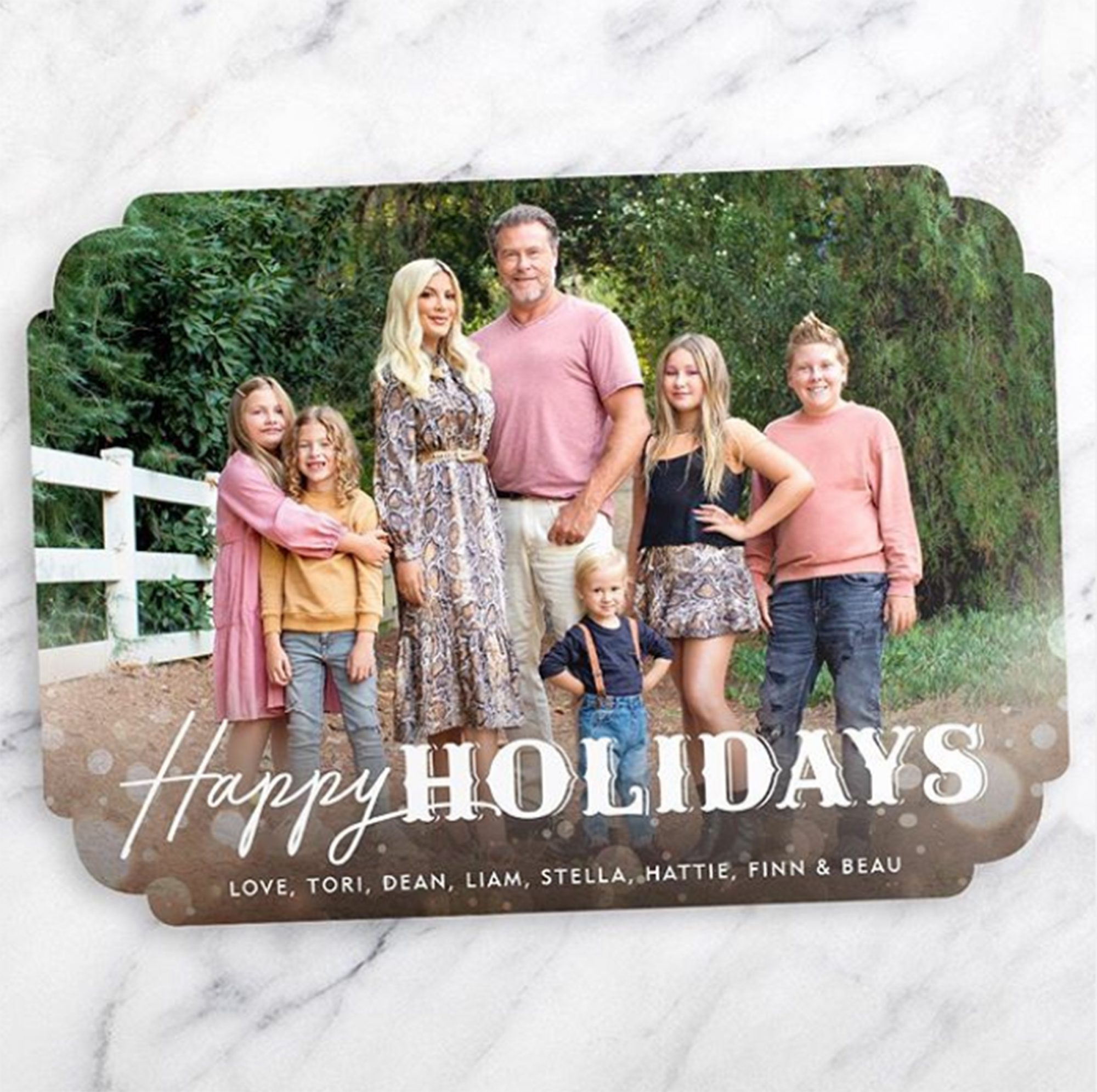 Tori Spelling holiday card