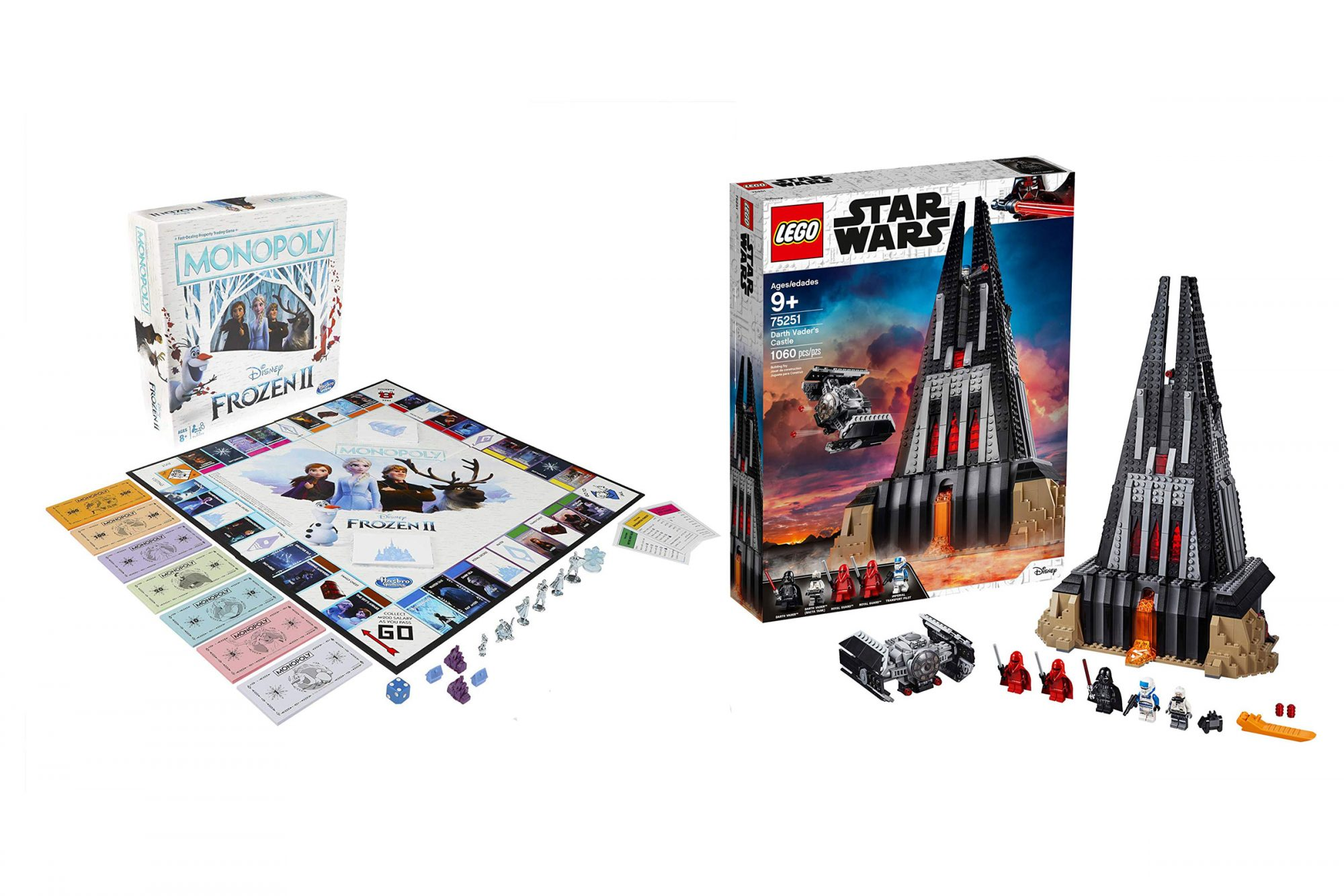 Monopoly Game: Disney Frozen 2 Edition Board Game for Ages 8 & Up LEGO Star Wars Darth Vader's Castle 75251 Building Kit includes TIE Fighter, Darth Vader Minifigures, Bacta Tank and more