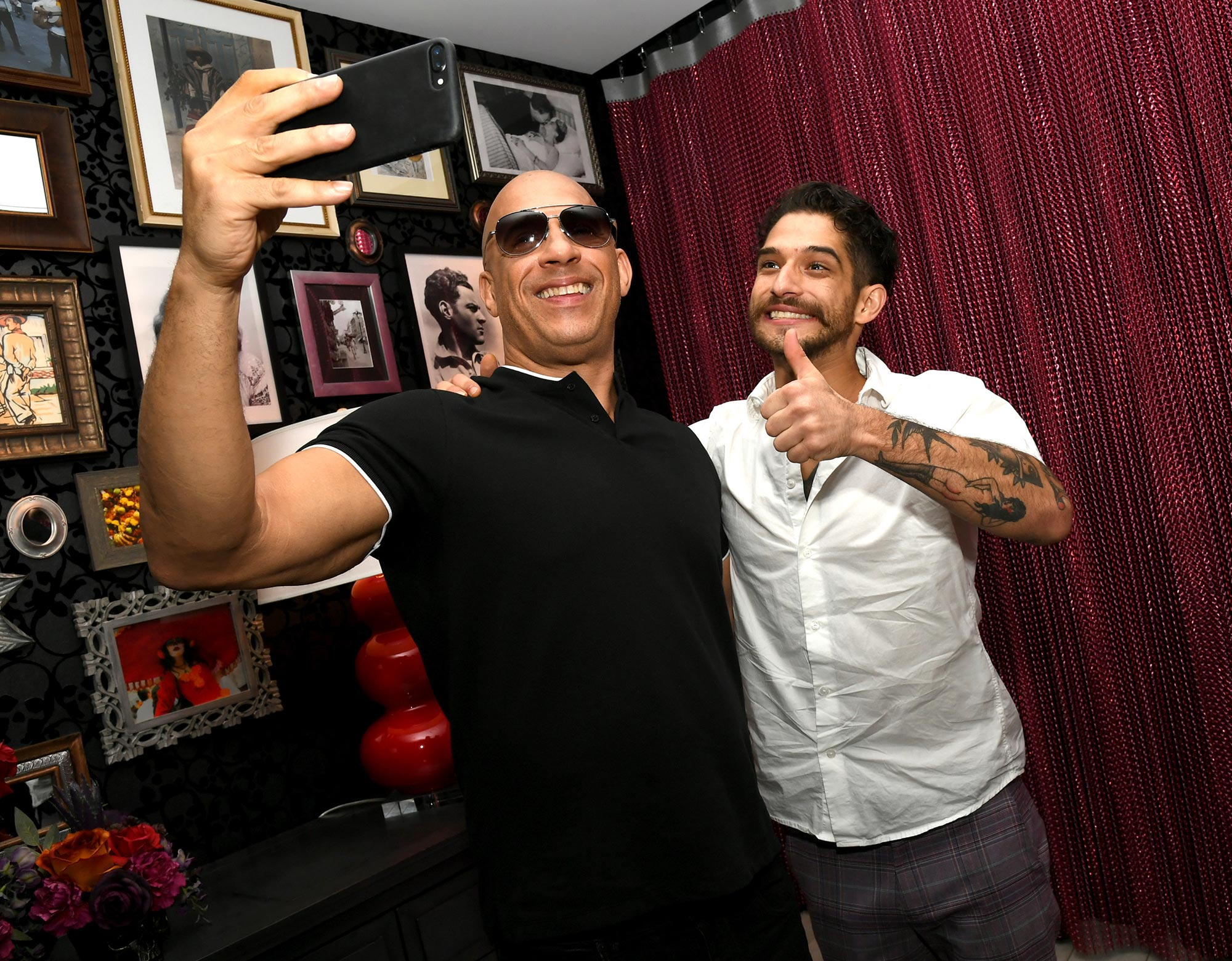 Vin Diesel (L) and Tyler Posey