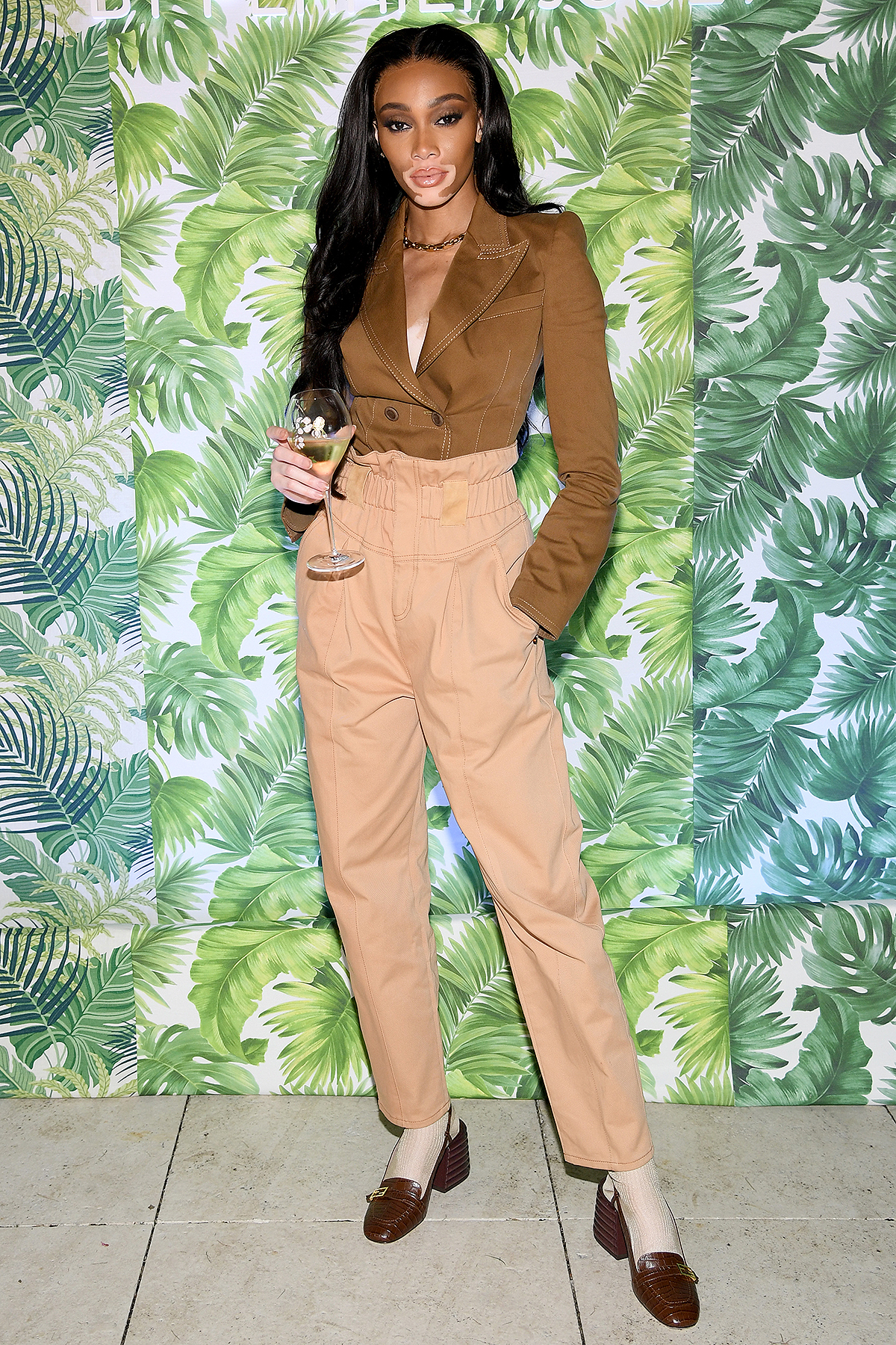 MIAMI BEACH, FLORIDA - DECEMBER 04: Winnie Harlow attends 'A Banquet of Nature by Perrier-Jouët' at Faena Hotel on December 04, 2019 in Miami Beach, Florida. (Photo by Dimitrios Kambouris/Getty Images for Perrier-Jouët )