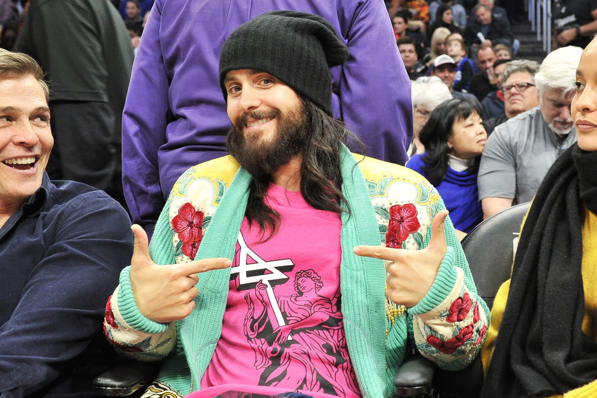 Jared Leto attends a basketball game between the Los Angeles Clippers and Portland Trail Blazers at Staples Center on December 03, 2019 in Los Angeles, California
