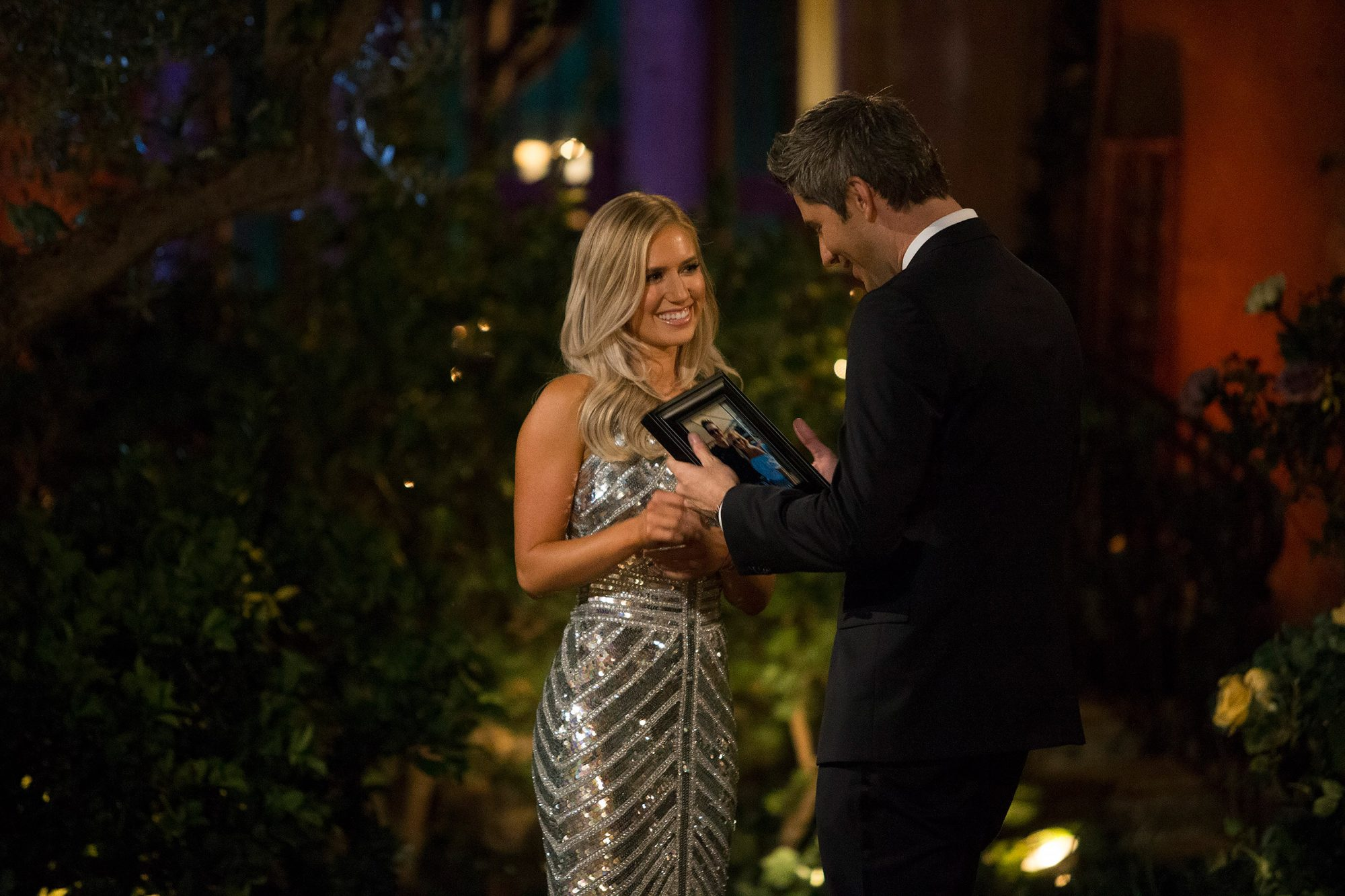 Before she ended up with Arie Luyendyk Jr., Lauren Burnham revealed upon exiting the limo that she had met him before. She gifted the race car driver a framed photo of that fateful day, and the rest is history.                             After Luyendyk initially chose Becca Kufrin for a fiancée, he broke things off with her (on television) and asked runner-up Burnham for her hand in marriage (also on television). The pair are now married and share a daughter, Alessi Ren.