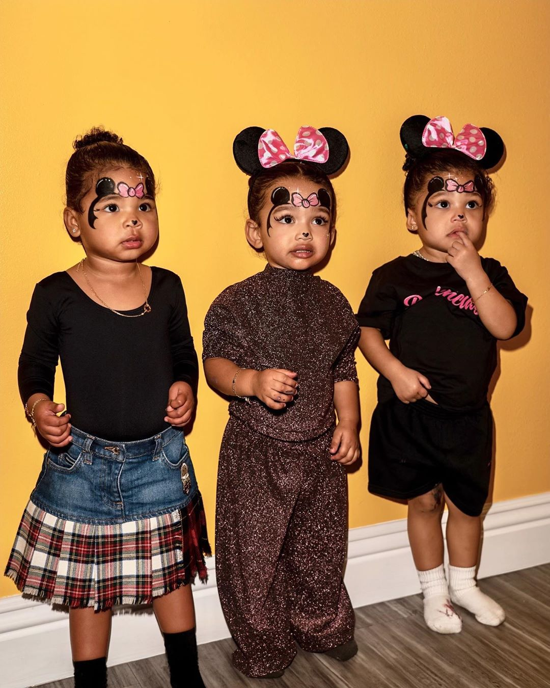 True, Chi, Stormi as Minnie Mouse