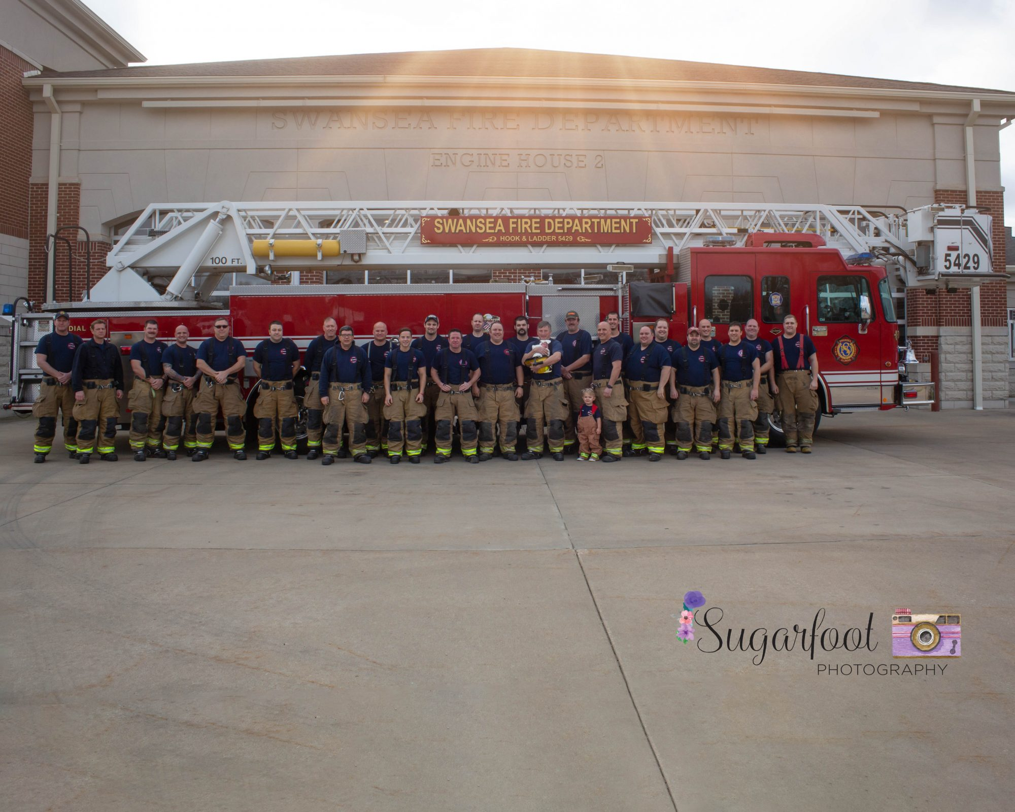 Newborn Tribute to Late Firefighter Dad