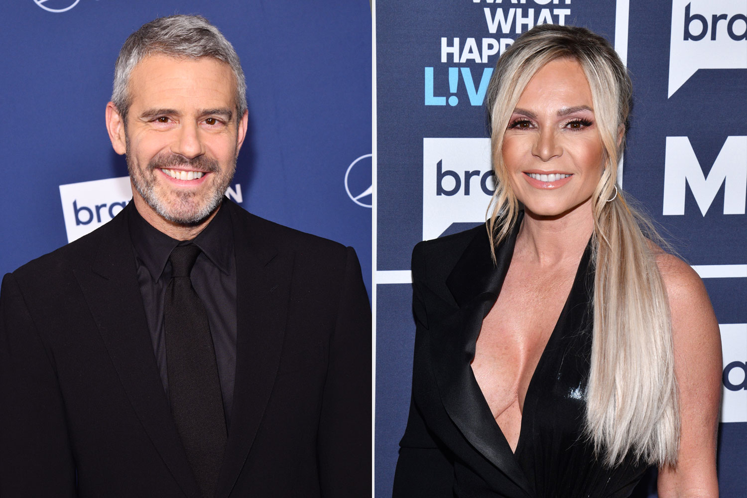 Andy Cohen and Tamra Judge