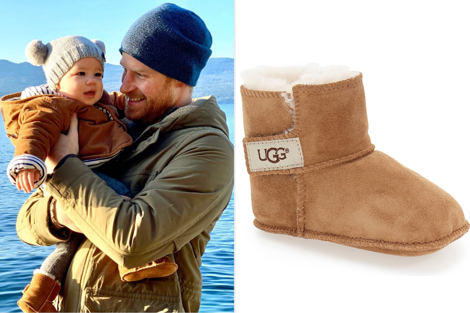 Prince Harry and Archie ugg booties