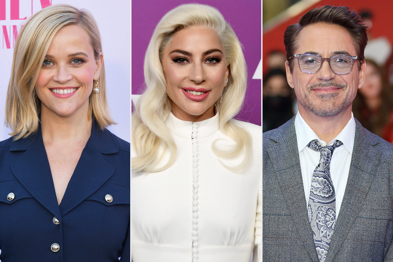 Reese Witherspoon Lady Gaga Robert Downey Jr.