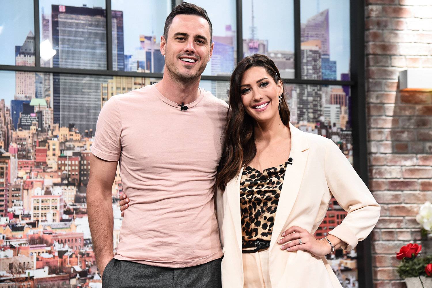 Ben Higgins and Becca Kufrin of the Bachelor visit People Now on January 28, 2020 in New York, City