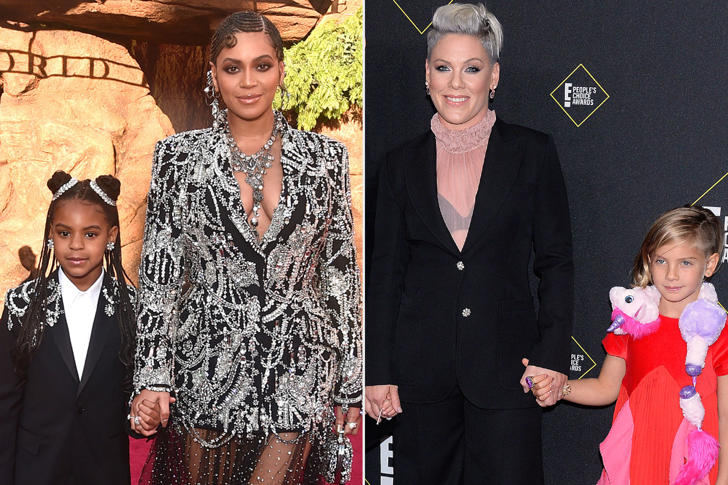 Beyonce /Blue Ivy and Pink and Willow
