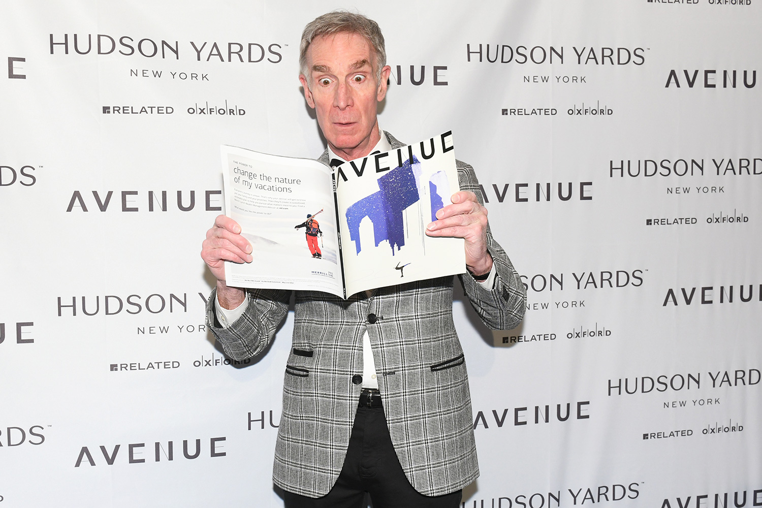 Bill Nye at the AVENUE Magazine Relaunch Event 35 Hudson Yards, NYC 01/22/2020