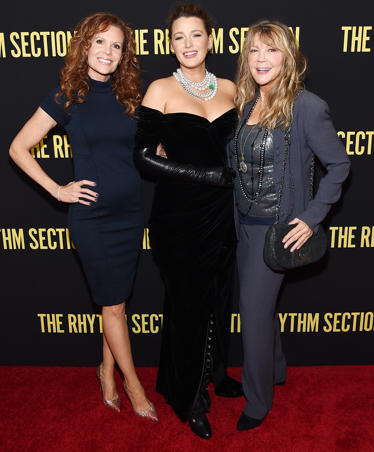 """Robyn Lively, Blake Lively, and Elaine Lively attend the screening of """"The Rhythm Section"""" at Brooklyn Academy of Music on January 27, 2020 in New York City"""