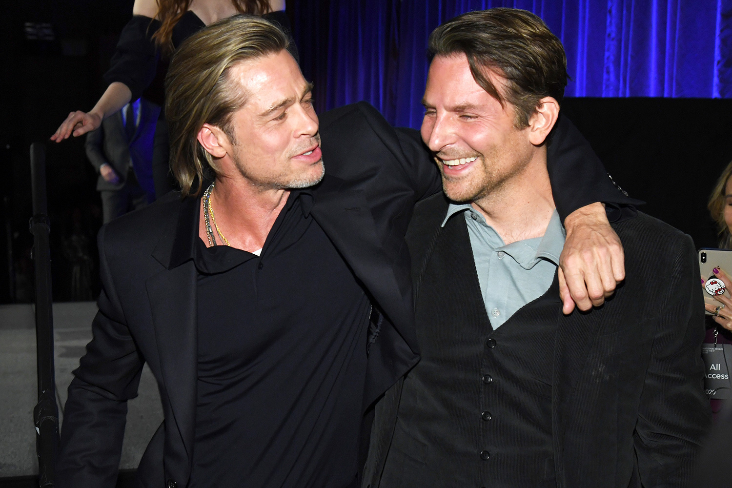 Brad Pitt and Bradley Cooper attend The National Board of Review Annual Awards Gala at Cipriani 42nd Street on January 08, 2020 in New York City