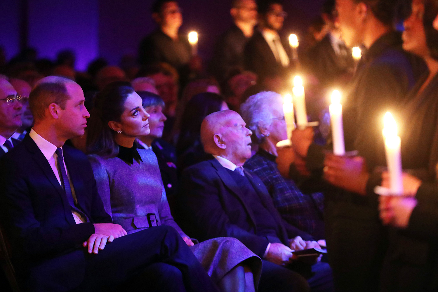 Prince William, Duke of Cambridge and Catherine, Duchess of Cambridge attend the UK Holocaust Memorial Day Commemorative Ceremony in Westminster on January 27, 2020 in London