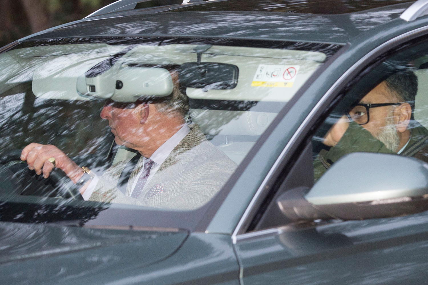Prince Charles leaves Sandringham house after a meeting to determine the future of the Sussexes as part of the Royal family.