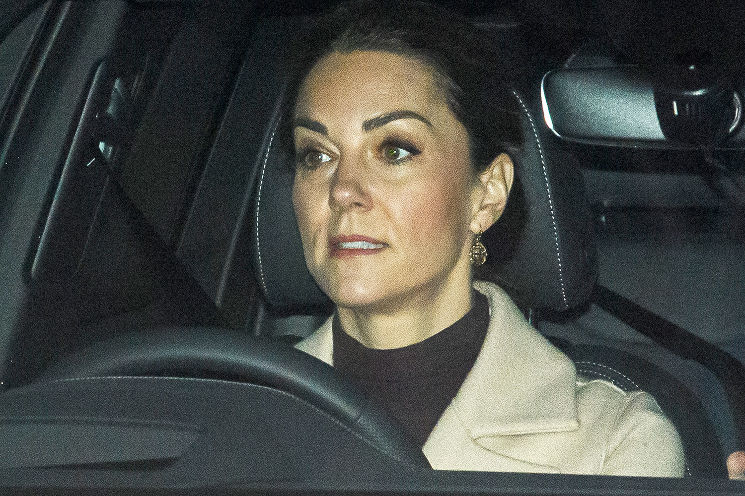 CATHERINE DUCHESS OF CAMBRIDGE is seen leaving Kensington Palace in London