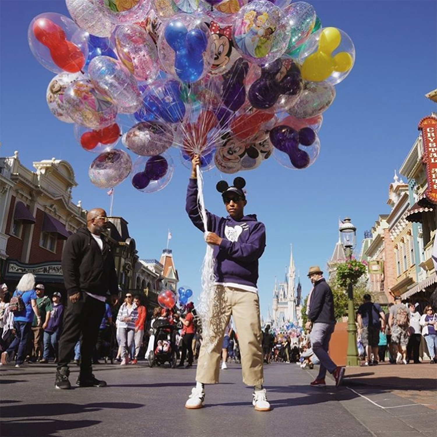 celebs at Disney Pharrell
