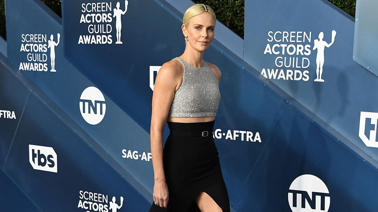 Charlize Theron, Scarlett Johansson & Cynthia Erivo Stunned in Tuxedos, Sleek Gowns and Neon