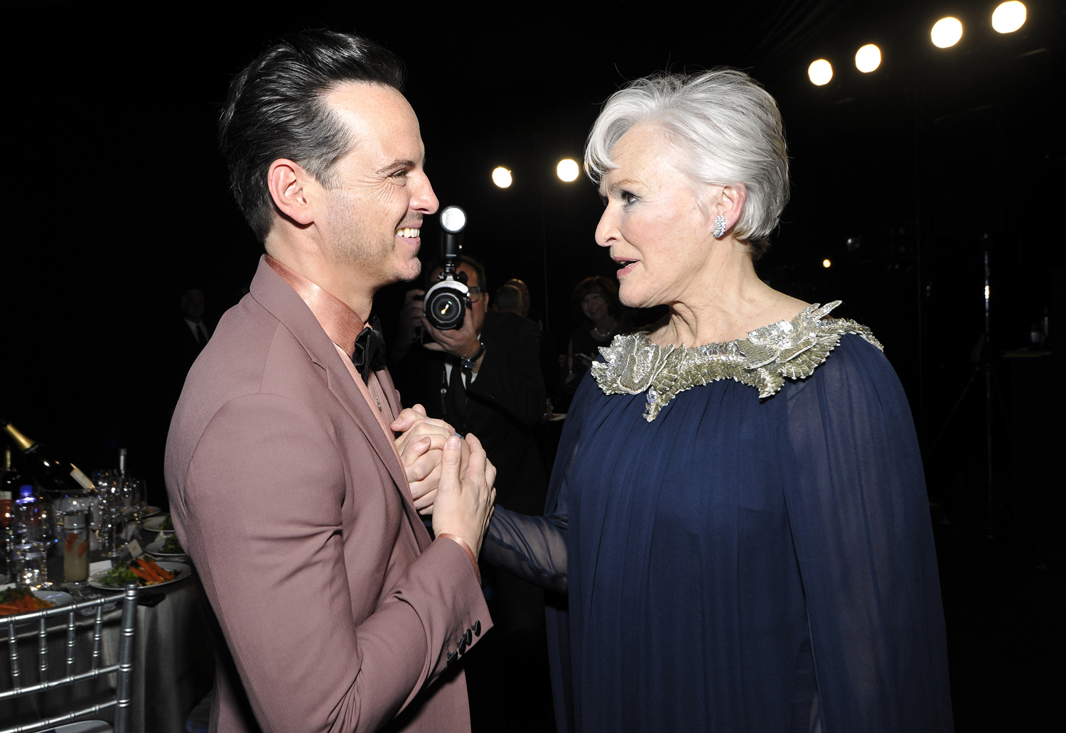 Andrew Scott and Glenn Close