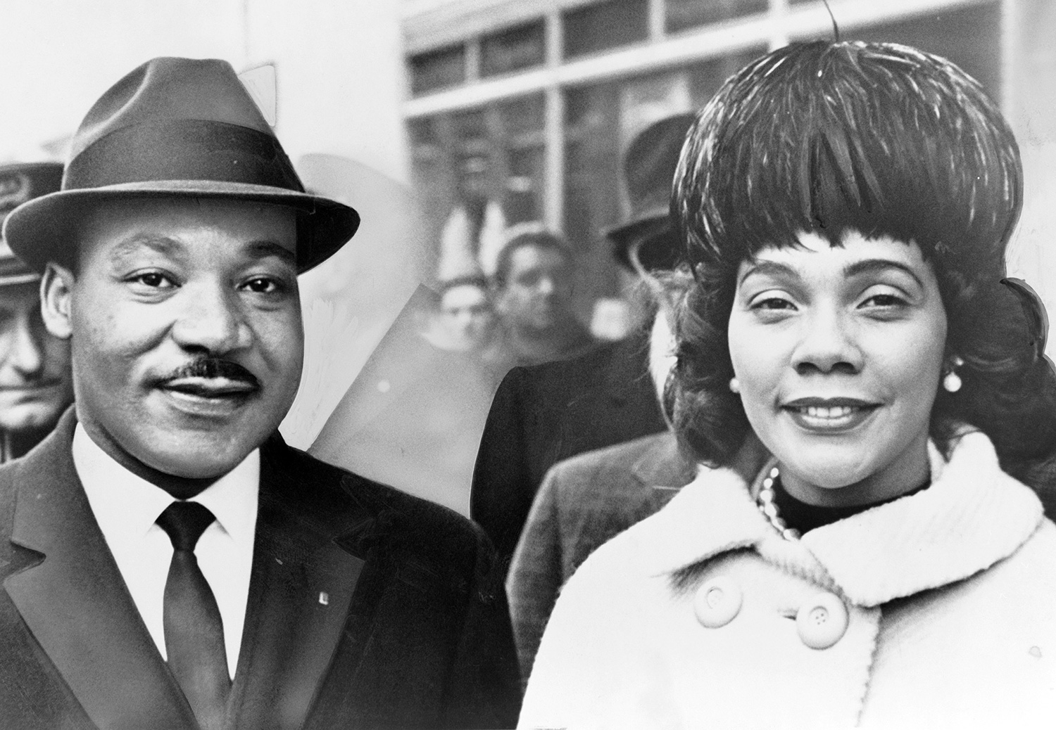 Dr. Martin Luther King and his wife Coretta Scott King pose for a portrrait in 1964