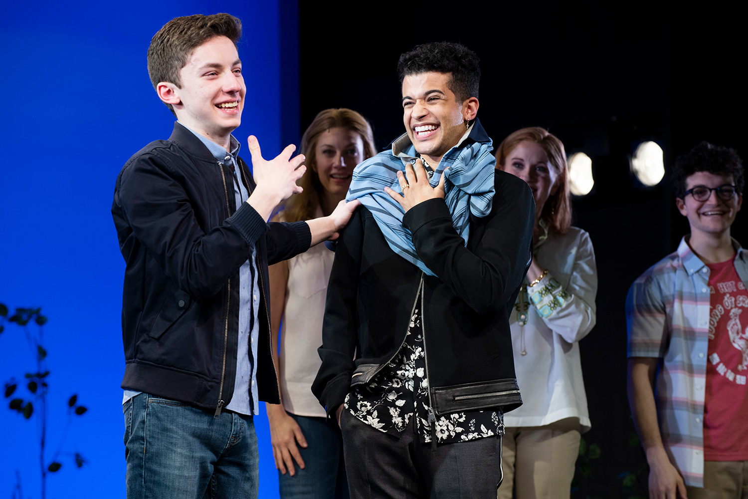 Jimmy Awards winner Andrew Barth Feldman takes final curtain call at Broadway's Dear Evan Hansen while passing the polo on to Dancing with the Stars winner Jordan Fisher, who will assume the role starting Tuesday.
