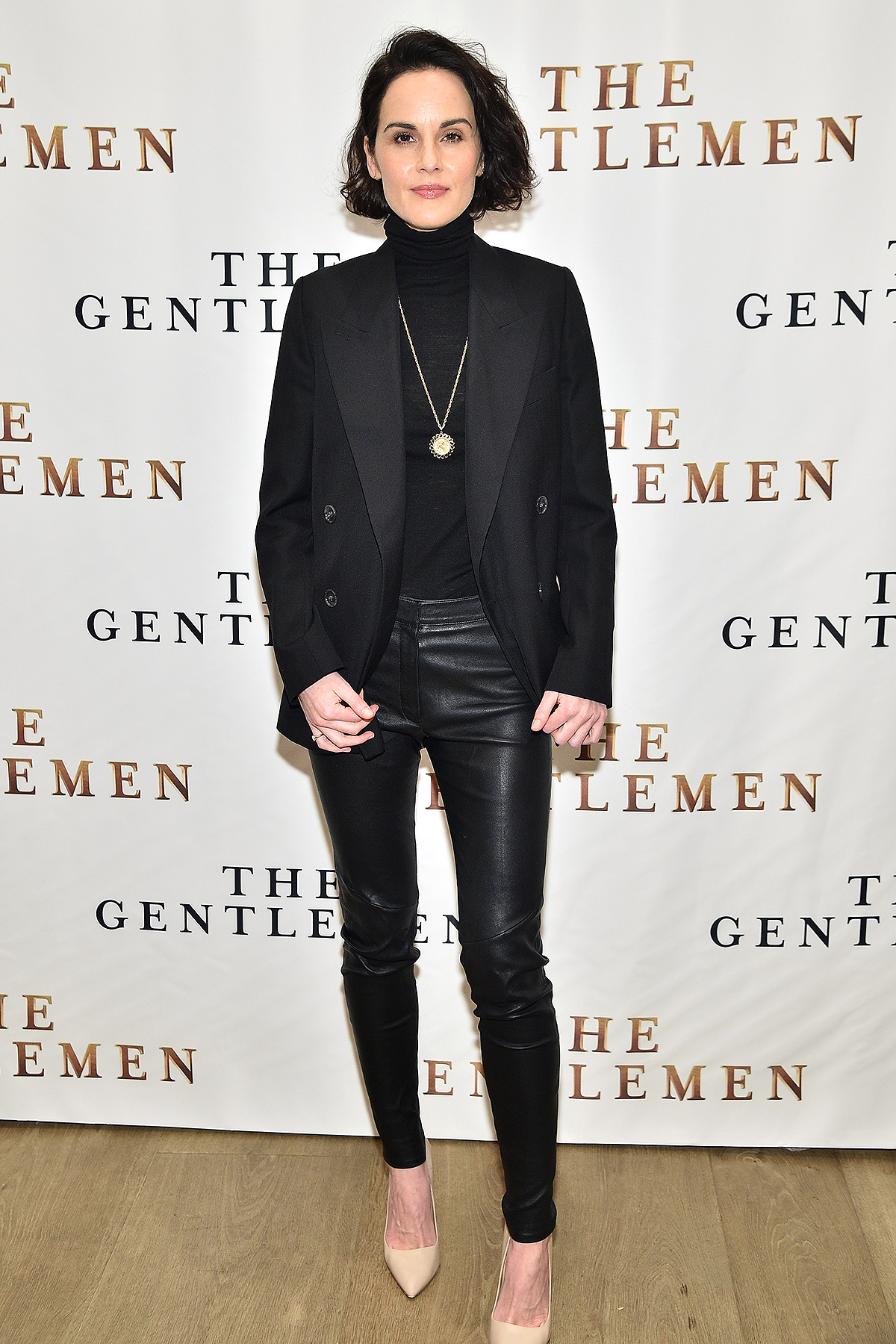 """Michelle Dockery attends """"The Gentlemen"""" New York Photo Call at the Whitby Hotel on January 11, 2020"""