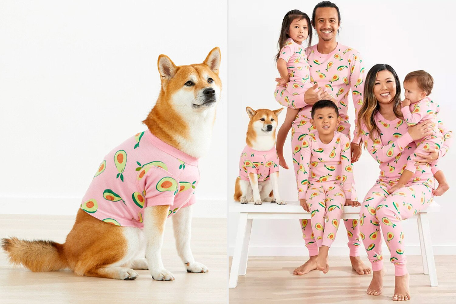Matching Owner And Dog Food Pajamas For