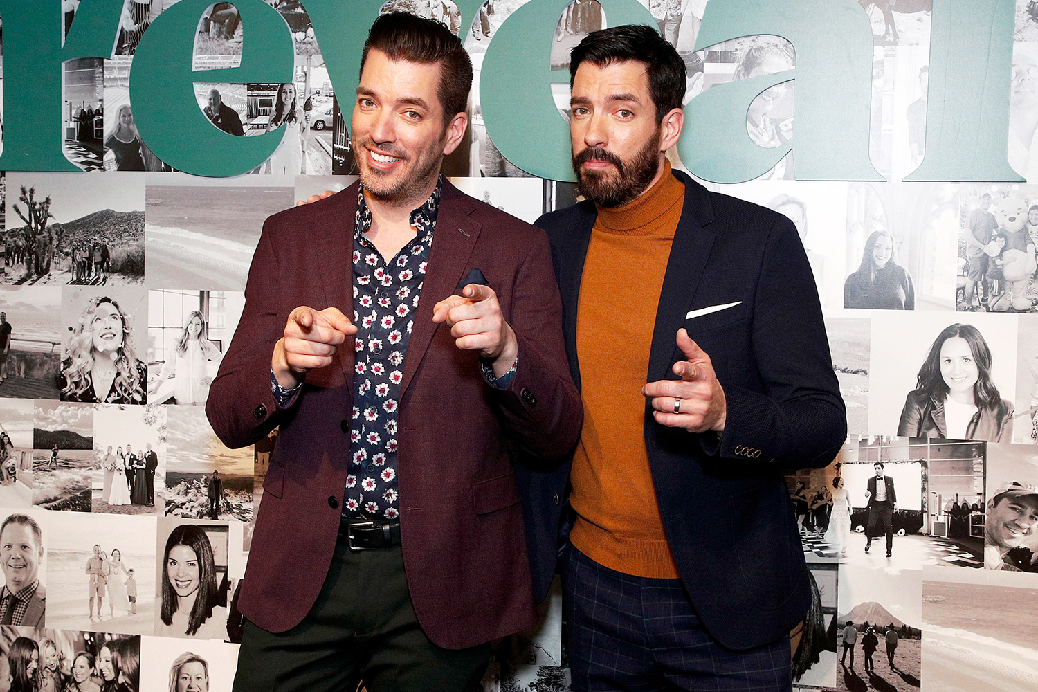 Jonathan Scott and Drew Scott celebrate the premier Issue of New Meredith Corporation's lifestyle publication Reveal at Meredith, INC on January 09, 2020 in New York City