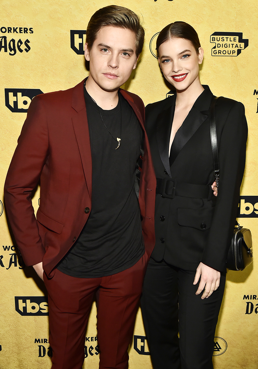"""Dylan Sprouse and Barbara Palvin attend TBS's """"Miracle Workers: Dark Ages"""" Premiere Celebration on January 22, 2020 in New York City"""