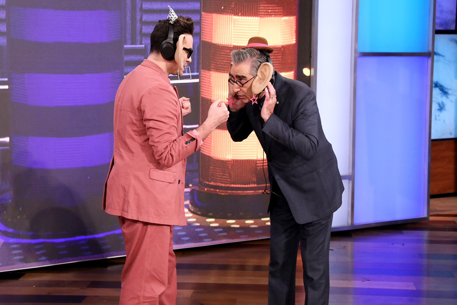 """Co-creators and stars of the critically acclaimed series """"Schitt's Creek,"""" Dan and Eugene Levy fill in as guest hosts on """"The Ellen DeGeneres Show"""" airing Friday, January 10th and kick off the show by giving fans life advice."""