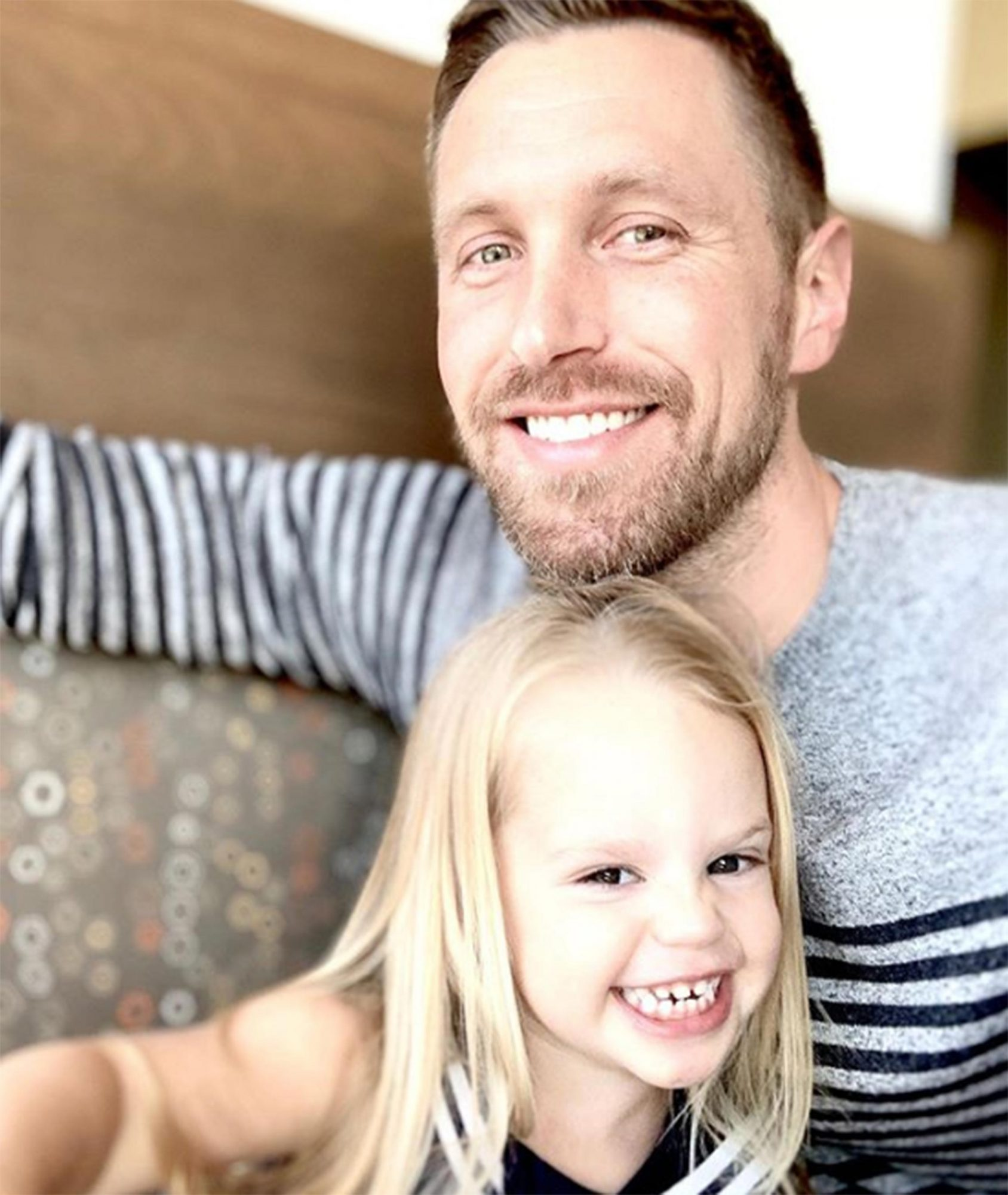 Gage Edwards and daughter
